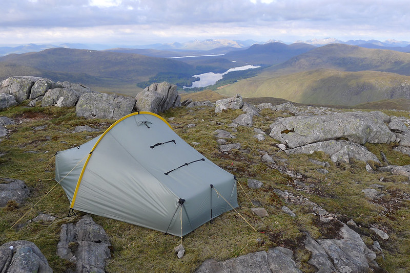 Camped above Loch Ossian