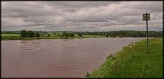 No fishing today (JHHALL2010.) Tags: uk summer water river landscape flood lancashire preston riverribble