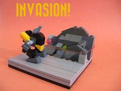 Frogger Sentry! (M2com McKinney) Tags: lego mini frog scifi mecha mech frogspace