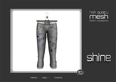 """shine by [ZD] - Mesh """"Marlin"""" Cropped Jeans (shine & sharp by [ZD]) Tags: life fashion by vintage demo for women shine dress place mesh market retro sl jeans dresses second denim cropped marketplace mp boho mode marlin frauen für kleidung kleid weiblich zd womenswear inworld zddesign"""