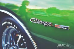 Charge! (Hi-Fi Fotos) Tags: detail reflection green classic vintage emblem nikon classiccar antique chrome american badge dodge americana mopar charger musclecar chromeography d5000 cmwdgreen hallewell hififotos
