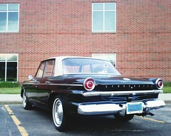 photo (Drew Z) Tags: black brick classic car wisconsin oregon sedan american studebaker wi