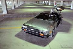 1981 Delorean DMC-12 (scott597) Tags: ohio photoshoot steel garage parking 1981 delorean dmc12 stainless