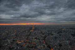 2014_05_20_tour-montp_101z (dsearls) Tags: city blue sunset orange paris france west tower horizon eiffeltower