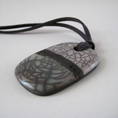 Raku Pendant (Jude Allman) Tags: ceramic ceramics crafts craft jewelry jewellery jude clay pottery raku pendant stoneware pendants allman