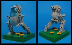 Loper Class Walker (Karf Oohlu) Tags: lego moc microscale walker biped loper