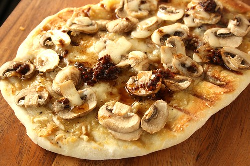 Roger Mooking's Pizza with Roasted Garlic and Mushrooms