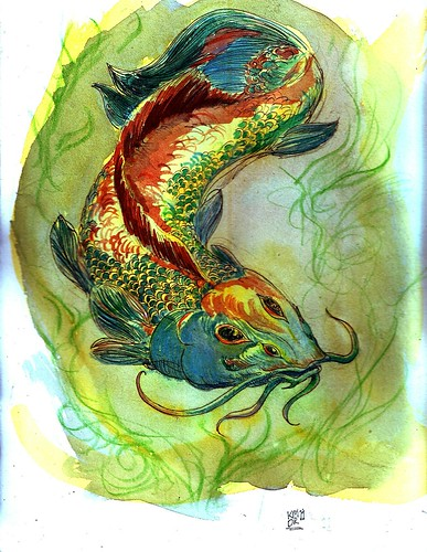 fish watercolor by Morty79