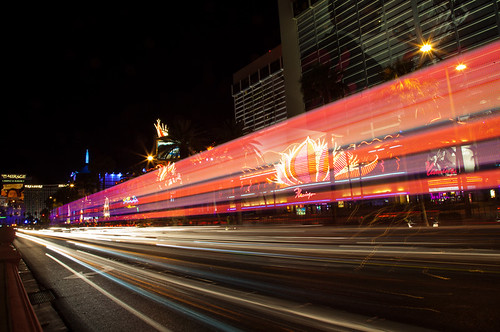 Las Vegas strip long exposure