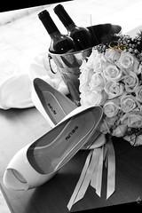 oll (IamNOTaPhotographer) Tags: wedding blackandwhite composite composition gold groom bride shoes wine fedi rings bouquet bew matrimonio biancoenero scarpe vino oro composizione