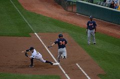 Allan Dykstra Out at First (slgckgc) Tags: dykstra binghamtonmets allandykstra