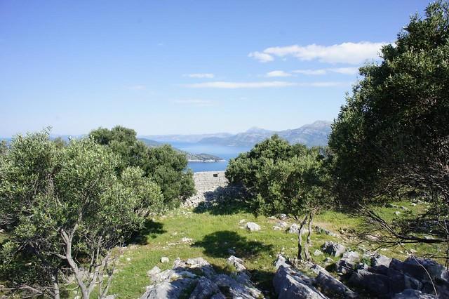 Lopud - fortress ruins2