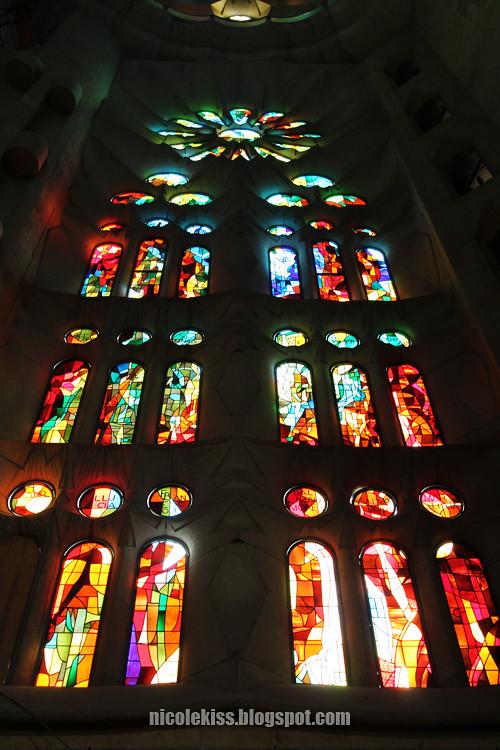 beautiful sagrada familia stained glass