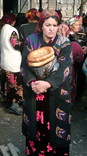 Selling Bread - Urgut, Uzbekistan