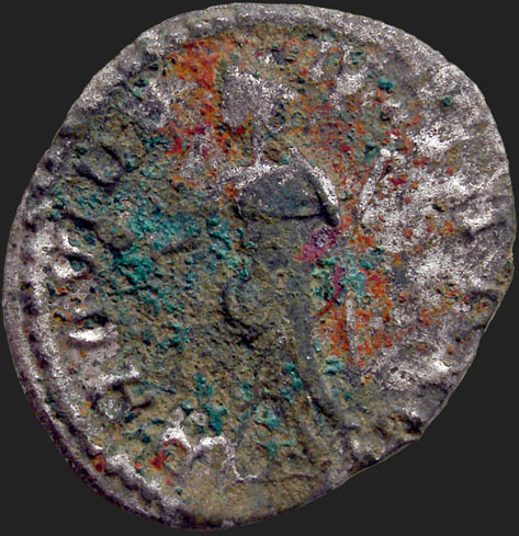Colours on a Roman Coin