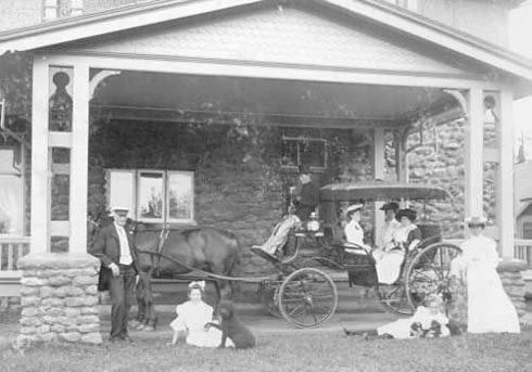 Carriage Ride in front of Dalvay by the Sea, early 1900s