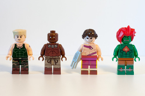 Custom minifig Street Fighter Minifigs - Round 2
