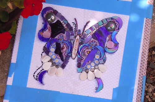 Butterfly : 5.5 by 5.5 (not glued down in this photo)