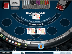 Blackjack Surrender Single Player Win
