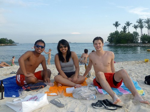 Day drinking in Tanjong Beach in Singapore