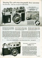 1961 Sears: Nikon SP, S3, Yashica YF (Nesster) Tags: camera ltm price vintage nikon order mail sears ad rangefinder advertisement sp list advert catalog s3 yashica 1961 yf prices nicca