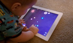 Baby playing NodeBeat on the iPad2