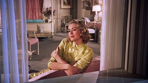 high society grace kelly vintage 50s gold chinese dressing gown robe