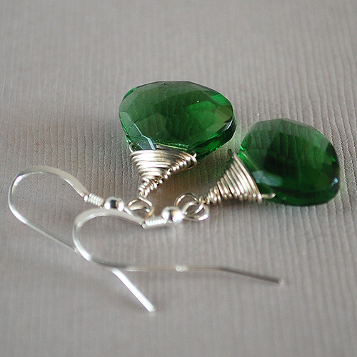 Green Gems Earrings