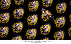 Another Egg in the wall. Happy Easter (Ianmoran1970) Tags: macro brick wall canon easter sweet chocolate egg 100mm cadbury chuckie cremeegg happyeaster hss cadburies ianmoran creameegg removedfromstrobistpool incompletestrobistinfo seerule2 ianmoran1970
