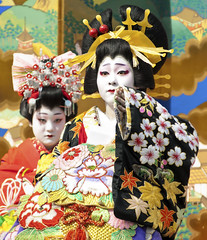 Oiran Dochu -  (ajpscs) Tags: festival japan japanese tokyo nikon prostitute pins parade  nippon entertainer  kimono obi procession asakusa hairstyle complex matsuri dori  geta skill highclass courtesan servants combs d300 yoshiwara oiran tayuu  patronise ajpscs 10    ichiyozakurakomatsubashi  oirandouchu  ichiyouzakuramatsuri edo16001868 yoshiwarapleasure komageta mitsuashi sanmaibageta hachimoji nikonflickraward   edo courtesan yjo
