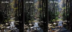 Filter Effect Comparison (BlueRidgeKitties) Tags: northcarolina blueridgeparkway circularpolarizer linvillefalls ndfilter westernnorthcarolina neutraldensityfilter southernappalachians hoyacpl canonpowershotsx40hs duggarscreek