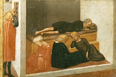 Stories of Saint Julian, Stories of Saint Nicholas of Bari (detail) (Ellis Art History) Tags: wood detail berlin religious italian renaissance masaccio 15thcentury quattrocento italianrenaissance berlinstatemuseums ellisarthistory