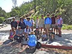 Reservoir hikers ready to go (maureenld) Tags: camping friends fun 40th george bash hiking may ken hike db trail hikers annual pinnacles 2012 pinnaclesnationalmonument bethereorbesquare beargulchreservoir desertbash btobs
