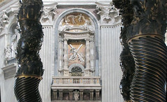 Bernini, Baldacchino, detail with columns