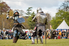 [2014-04-19@15.12.11a] (Untempered Photography) Tags: history costume fight helmet battle medieval weapon sword knight shield combat armour reenactment champions skirmish combatant chainmail canonef50mmf14 perioddress platearmour gambeson mailarmour untemperedeye canoneos5dmkiii untemperedeyephotography glastonburymedievalfayre2014