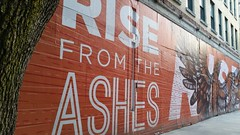 Rise from the Ashes by Corey Kolb & Eric Hinote (Michel Curi) Tags: pictures park camera new trip travel family flowers vacation people food orange streetart art abandoned nature phoenix birds festival wall buildings photography graffiti bars downtown day riverside florida photos pics streetperformers events laranja livemusic restaurants stjohns images historic galleries fotos artists transportation vacant jacksonville fl museums jax naranja artwalk duval businesses stjohnsriver rivercity hemmingplaza streetmural flickrfriday firstcoast onespark duvalcounty firstwednesday risefromtheashes outdoormuseums culturalvenues twittertuesday lovefl downtownjacksonvilleartwalk iloveartwalk coreykolb erichinote iwantjacksonville