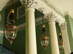 The Great Staircase (Gilder Kate) Tags: stairs lumix panasonic staircase lanterns nationaltrust middlesex osterley osterleypark osterleyhouse oillamps nationaltrustproperty panasoniclumix robertadam mainstaircase childfamily thegreatstaircase fz200 dmcfz200 panasoniclumixdmcfz200 smokebelllanterns castironbaluster