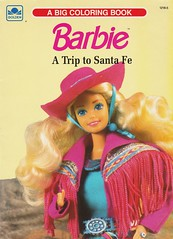 1990 Barbie: A Trip to Santa Fe (Coloring Book) (The Barbie Room) Tags: featuring 1989 western fun barbie doll 9932 1990 trip coloring book 1990s 1980s 80s 90s santafe west wild cowgirl cowboy colouring color colour