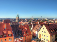 The new Nuremberg (Digidoc2 - BACK) Tags: nuremberg germany cityscape landscape buildings spires sky blue architecture