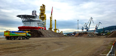 Scotland Greenock the upgrading work on the east dock 21 September 2016 by Anne MacKay (Anne MacKay images of interest & wonder) Tags: scotland greenock construction work east dock xs1 21 september 2016 picture by anne mackay
