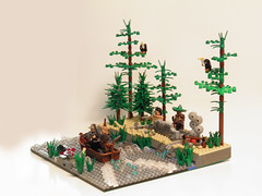 River Rescue (~Amadgunslinger~) Tags: red dead war lego fig mini civil prototype western undead nightmare minifig custom redemption proto brickarms brickforge