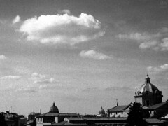 (MArchante) Tags: city sky blackandwhite bw italy cloud rome roma church monument arquitectura nikon italia monumento iglesia ciudad bn cielo cupola dome cupula nikonf3 nube templo flim arquitecture 400tmax kodad