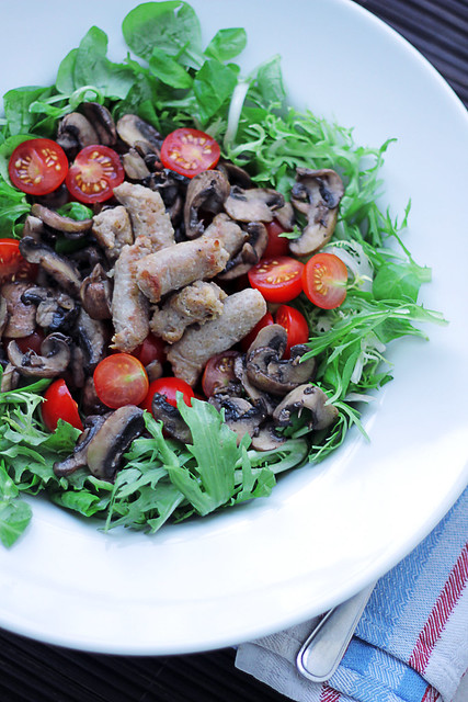 Sausages, Mushrooms and Tomatoes