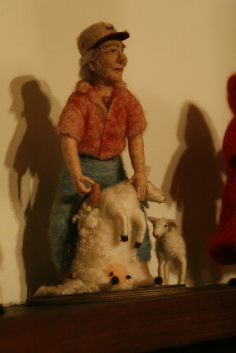 sheep shearer with anatomically correct sheep