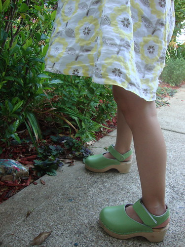 green clogs