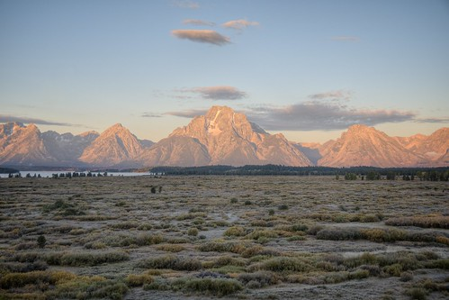 Sunrise in the Grand Tetons