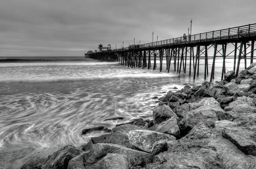 Oceanside Pier B&W