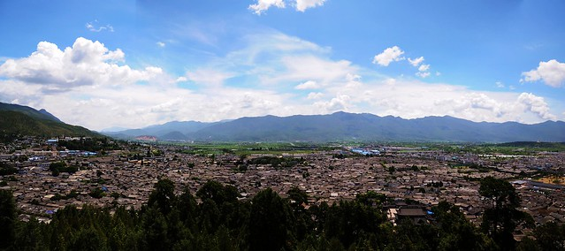 panoramic view of Lijiang Old Town