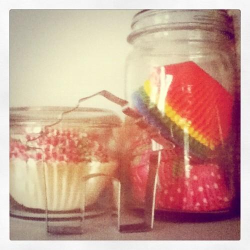 Cupcake liners in jars