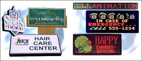 Church, School, Military and Municipal Signs